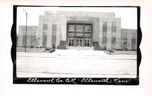 Kansas Ks Postcard Real Photo RPPC c1950 ELLSWORTH County Court House