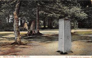 Rufus Stone New Forest, monument 1906