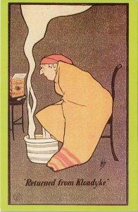 'Returned from Klondyke' Klondike YT Colman's Mustard J. Hassal Art Postcard F93