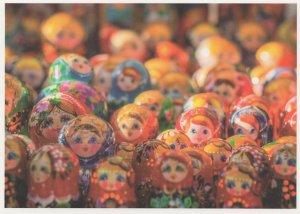 Kaleidoscope Of Toy Russian Dolls German Postcard