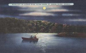 Moonlight Fishing on Dunbar River - St Simons Island GA, Georgia - Linen