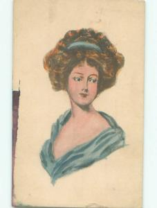 Divided-Back PRETTY WOMAN Risque Interest Postcard AA8088