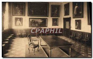 Postcard Old Ghent Discalced Carmelite Convent reception room