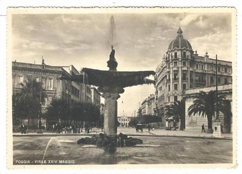 RP, Waterfountain, Viale XXIV Maggio, Foggia (Puglia), Italy, 1920-1940s