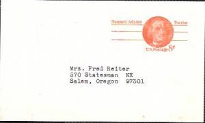 US Pre-stamped Postcard UX66 Samuel Adams.