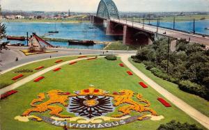 Netherlands Nijmegen Waalbrug met Bloementapijt Wapen Bridge