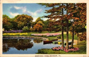 Pennsylvania Greetings From Waymart 1955