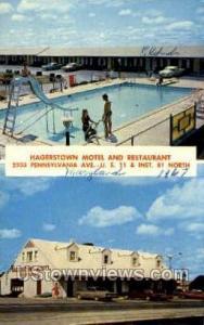 Hagerstown Motel & Restaurant Hagerstown MD 1967