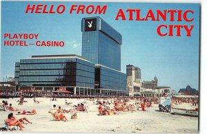 Playboy Hotel & Casino, Atlantic City, NJ - Vintage Chrome Postcard