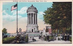 Soldiers And Sailors Monument New York City New York 1925