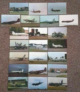 22 Limited Edition Postcards Aviation Military RAF Bombers Fighters Helicopters