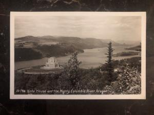Mint USA RPPC Postcard Vista House & Mighty Columbia River OR
