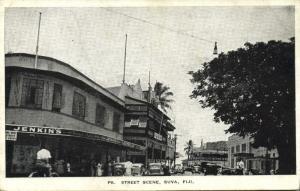 fiji islands, SUVA, Street Scene, Jenkins Store (1930s)