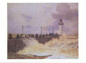 'The Jetty at Le Havre' Claude Monet Art Unused Postcard D31