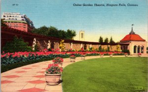 Oakes Garden Theatre Niagara Falls Canada Postcard unused 1930s/40s