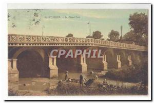 Saint Dizier Old Postcard The Great Bridge (animated LAVANDIERES)