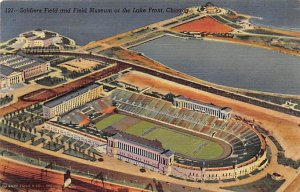 Soldiers Field & Field Museum at the Lake Front Chicago, Illinois, USA Footba...