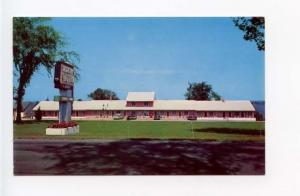 Morristown NY Morley's Motel on Route 37 Old Cars Postcard