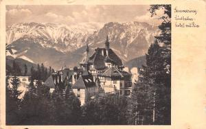 Switzerland Old Vintage Antique Post Card Hotel mit Rax Postal Used Unknown, ...