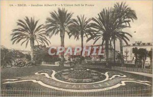 Postcard Old Nice Albert I Gardens Unity is Strength