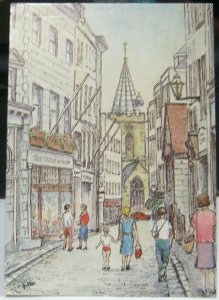 Guernsey High Street St Peter Port by Cecile Fuller - posted 1985