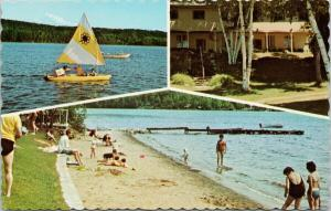 Maple Sands Atro Resort Maple Lake Haliburton Ontario ON Unused Postcard F10