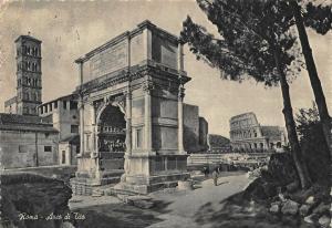Italy Roma Arch of Titus Arc Ruins Arco di Tito Postcard