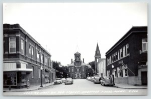 Redwood Falls Minnesota~3rd Street East~Cairns Clinic~Courthouse~1940s Cars RPPC