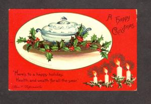 Happy Holiday Christmas Greetings Postcard Ellen Clapsaddle Carte Postale