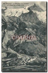 Old Postcard Dauphine La Grave Generale View And Le Massif de la Meije