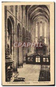 Old Postcard St Maximin la Basilica Interior of the basilica