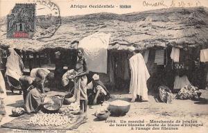 Mali Conakry Marche, Marchande de boules de terre blanche commerce market 1907