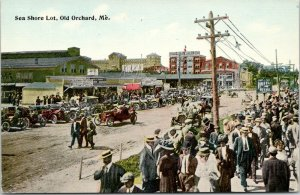Old Orchard Maine~Sea Shore Lot~Elite Hotel~California Fruit Co~Dairy Lunch~1910