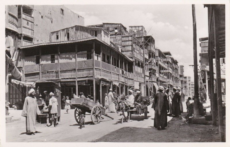 Egypt Port Said Arab Quarter Street Scene Real Photo sk1969a