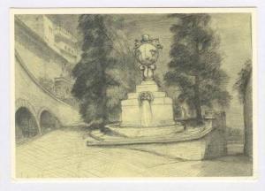 Citta del Vaticano, Fontana Dei giardini, 40-60s