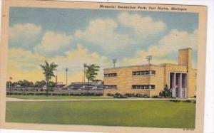Michigan Port Huron Memorial Recreation Park 1952 Curteich