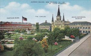 Louisiana New Orleans Pontalba Building The Cabildo State Historical Mueum Ja...