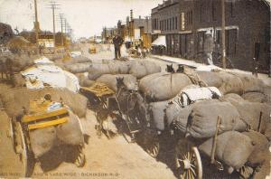 Dickinson ND All Wool And a Yard Wide~Giant 12-Foot Tall Worker~Full Wagons 1908