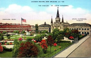 Louisiana New Orleans Jackson Square The Cabildo & St Louis Cathedral