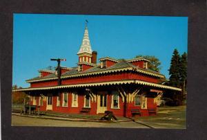 NH Wolfeborough Railroad Train Station Depot RR Railway Postcard New Hampshire