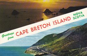 Canada Nova Scotia Cape Breton Greetings From