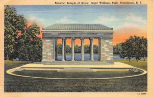 Benedict Temple of Music, Roger Williams Park, Providence, RI,Postcard, Unused