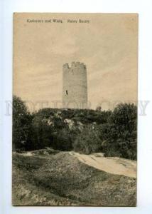 172208 POLAND Kazimierz Dolny Ruiny Baszty Vintage postcard