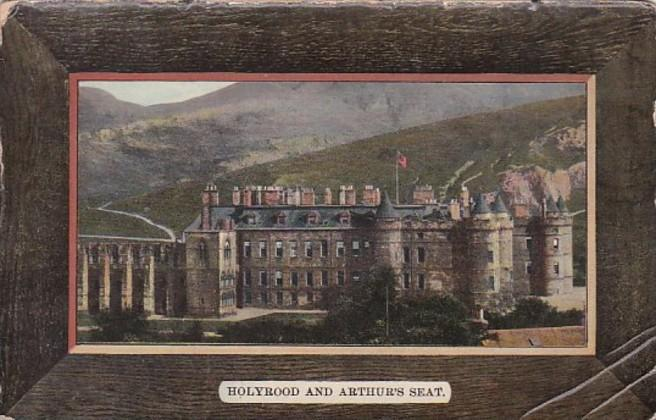 Scotland Edinburgh Holyrood and Arthur's Seat