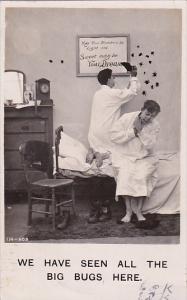 Bamforth Life Model Series  Man Killing Bugs On Wall With Shoe 1907