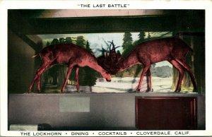 Vtg Postcard - Cloverdale California CA The Lockhorn Restaurant The Last Battle