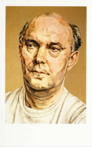 Alan Ayckbourn English Playwright Portrait by Allan Ramsay Art Postcard