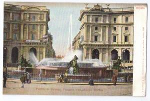 Roma Piazza di Termini Fontana Acqua Marcia Rome Italy UDB