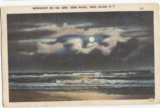 Moonlight On The Surf Long Beach LI NY -linen-