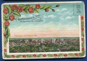 Chattanooga Tennessee tn Cameron Hill Signal Mtn railroad postcard folder